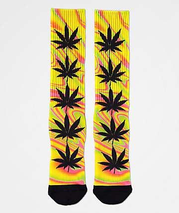 HUF Plantlife Good Trip Blazing calcetines amarillos
