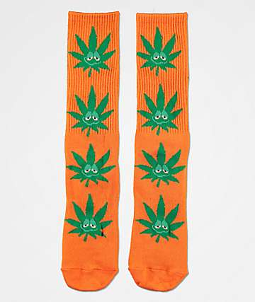 HUF Plantlife Green Buddy Orange & Green Crew Socks