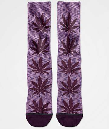 HUF Plantlife Melange Purple Crew Socks