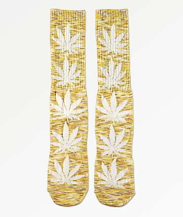 HUF Plantlife Melange Yellow Crew Socks