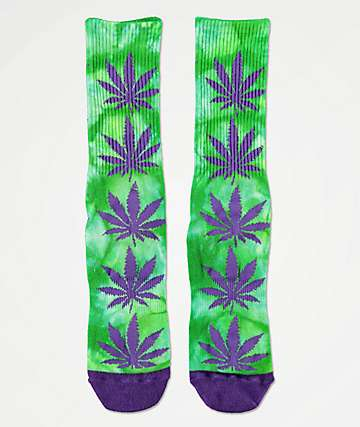 HUF Plantlife Purple & Green Crew Socks