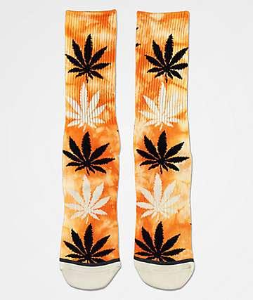 HUF Plantlife Russet Tie Dye Crew Socks