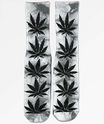 HUF Plantlife calcetines de tie dye gris