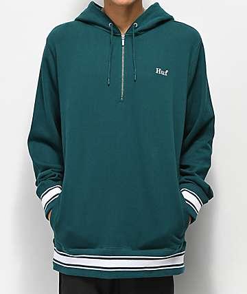 HUF Relay Green Anorak Hoodie