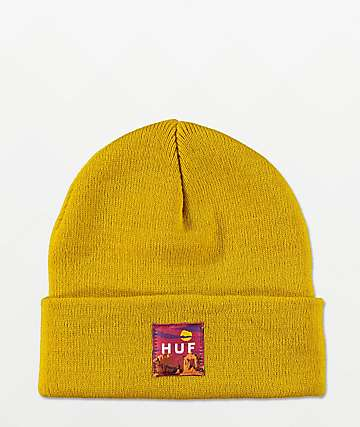 HUF Sedona Label Yellow Beanie