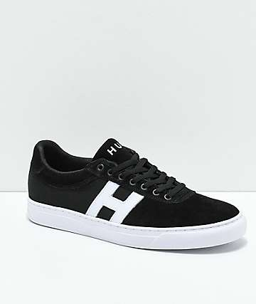 HUF Soto Black & White Skate Shoes