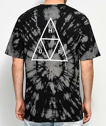 HUF Triple Triangle Black Washed T-Shirt