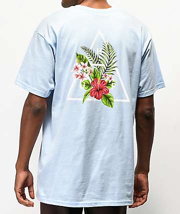 HUF Tropical camiseta azul claro