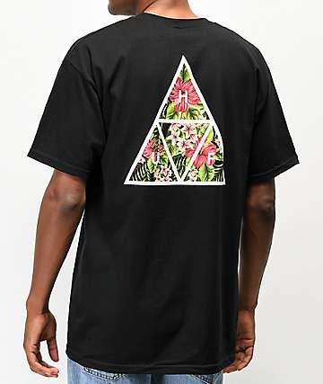 HUF Tropics camiseta negra