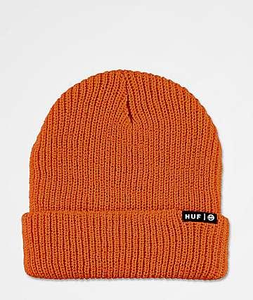 HUF Usual Rust Orange Beanie