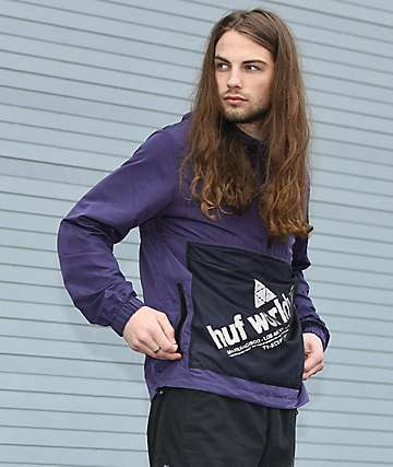 HUF Wire Frame Purple Anorak Jacket