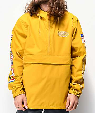 HUF World Tour Gold Anorak Jacket