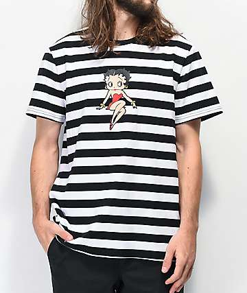 HUF x Betty Boop Black & White Stripe T-Shirt