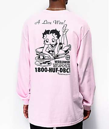 HUF x Betty Boop Livewire Pink Long Sleeve T-Shirt