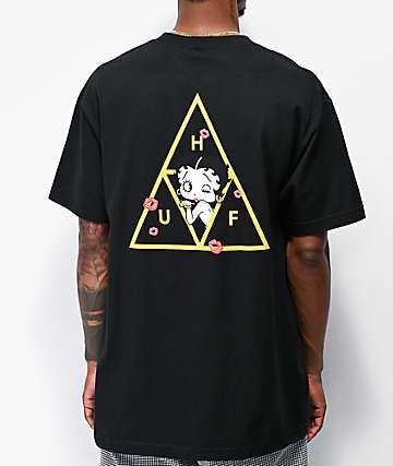 HUF x Betty Boop Triangle camiseta negra