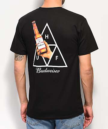 HUF x Budweiser Cheers Black T-Shirt