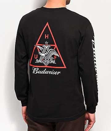 HUF x Budweiser Eagle camiseta negra de manga larga