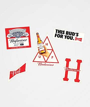 HUF x Budweiser Sticker Pack