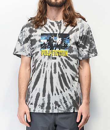 HUF x Pulp Fiction Dance Scene Grey Tie Dye T-Shirt