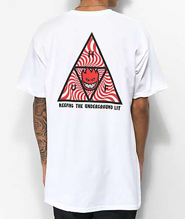 HUF x Spitfire Triple Triangle White T-Shirt