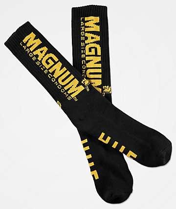 HUF x Trojan Magnum Black Crew Socks