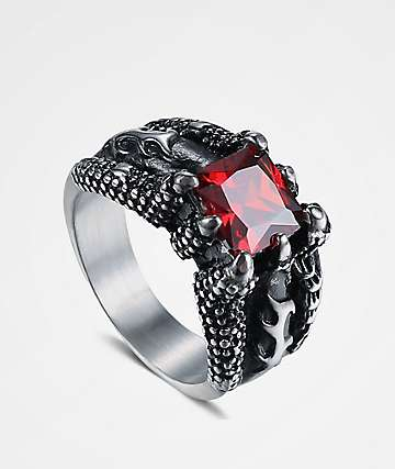 Half Hearted Dragon Stone Ring