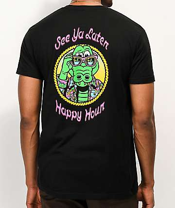 Happy Hour See Ya Later Black T-Shirt
