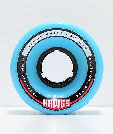 Hawgs Chubby Hawgs Blue 60mm 78a Longboard Wheels