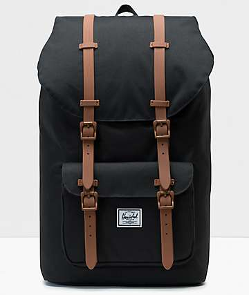 Herschel Little America Black & Saddle Backpack