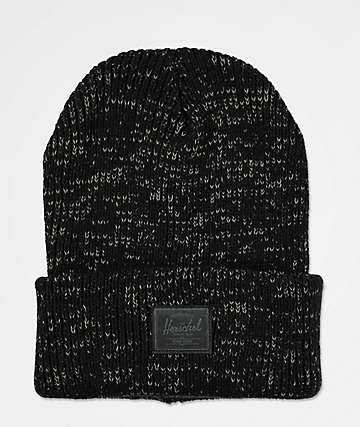 Herschel Supply Co. Abbot Reflective Black Beanie