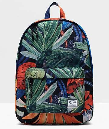 Herschel Supply Co. Classic Mid Watercolor Flower Backpack