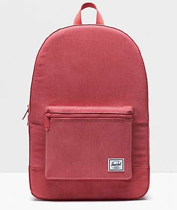 Herschel Supply Co. Daypack Cotton Casuals Mineral Red Backpack
