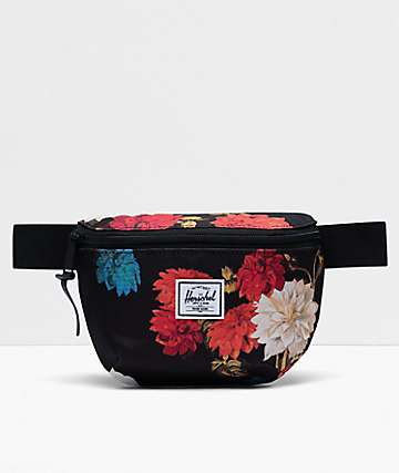 Herschel Supply Co. Fourteen Vintage Floral Black Fanny Pack