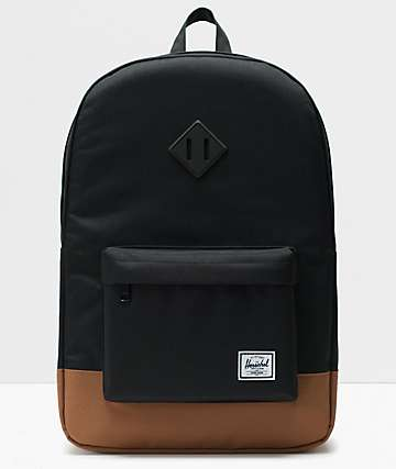 Herschel Supply Co. Heritage Black & Saddle Backpack