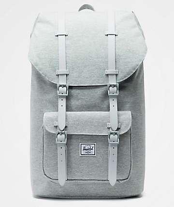 Herschel Supply Co. Little America Light Grey Crosshatch Backpack