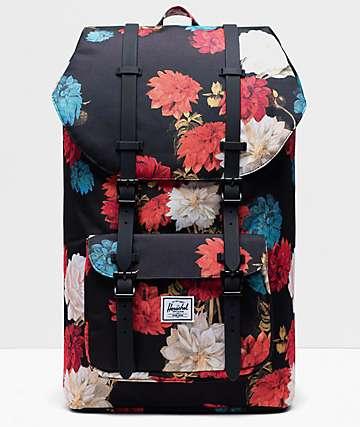 Herschel Supply Co. Little America Vintage mochila negra floral