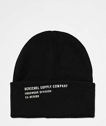 Herschel Supply Co. Print Black Beanie