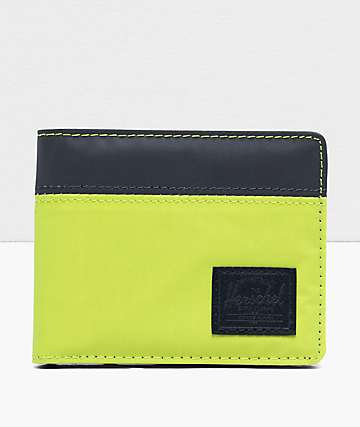 Herschel Supply Co. Roy Lime Green & Reflective Bifold Wallet
