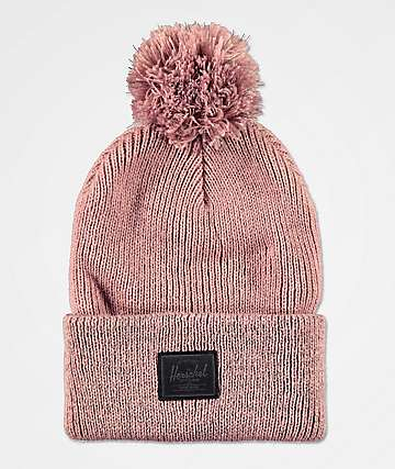 Herschel Supply Co. Sepp Ash Rose Reflective Pom Beanie