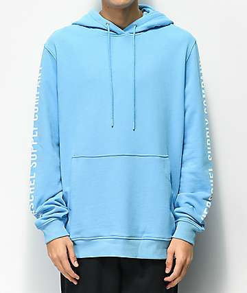 Herschel Supply Co. Sleeve Print Light Blue Hoodie