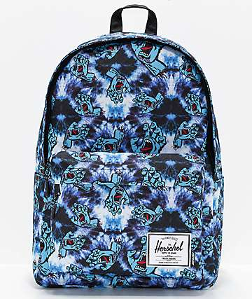 Herschel Supply Co. x Santa Cruz Classic XL Tie Dye Screaming Hand Backpack