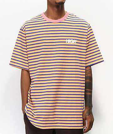 High Company Kidz Pink & Blue Striped T-Shirt