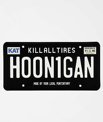 Hoonigan Black License Plate