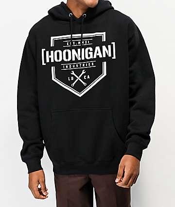 Hoonigan Bracket -X Black Hoodie