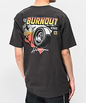 Hoonigan Burnout Kings Tarmac Grey T-Shirt