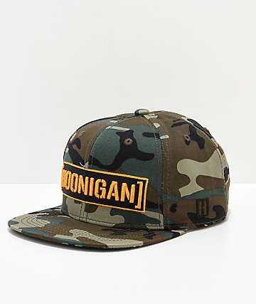 Hoonigan Censor Bar Camo Snapback Hat