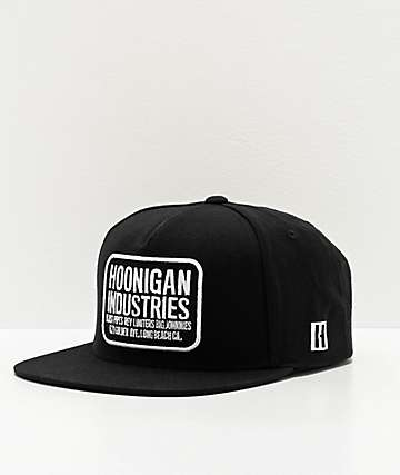 Hoonigan HNGN Shop Black Snapback Hat