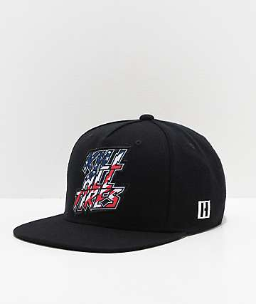 Hoonigan Kill All Tires Red, White, Blue & Black Snapback Hat