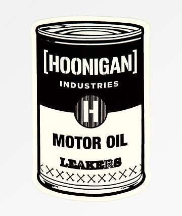 Hoonigan Oil Can Sticker