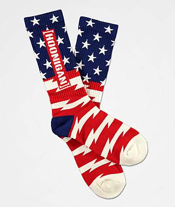 Hoonigan Stars & Stripes Crew Socks